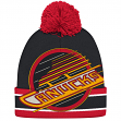 "Vancouver Canucks CCM NHL ""Split Logo"" Cuffed Knit Hat with Pom"