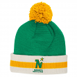 "Minnesota North Stars CCM NHL ""Retro Logo"" Striped Cuff Knit Hat with Pom"