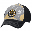"Boston Bruins Reebok NHL 2015 ""Face-Off"" Structured Flex Hat"