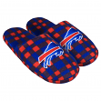Buffalo Bills NFL Men's Plaid Flannel Slide Slippers