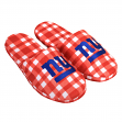 New York Giants NFL Men's Plaid Flannel Slide Slippers