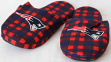 New England Patriots NFL Men's Plaid Flannel Slide Slippers
