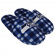 Seattle Seahawks NFL Men's Plaid Flannel Slide Slippers