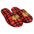 Chicago Blackhawks NHL Men's Plaid Flannel Slide Slippers