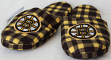 Boston Bruins NHL Men's Plaid Flannel Slide Slippers