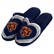 Chicago Bears NFL Women's Glitter Heart Slide Slippers