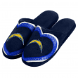 San Diego Chargers NFL Women's Glitter Heart Slide Slippers
