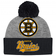 "Boston Bruins Mitchell & Ness NHL ""Tailsweep"" Current Logo Cuffed Pom Knit Hat"