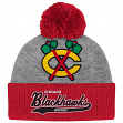 "Chicago Blackhawks Mitchell & Ness NHL ""Tailsweep"" Current Logo Cuffed Knit Hat"
