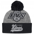 "Los Angeles Kings Mitchell & Ness NHL ""Tailsweep"" Retro Logo Cuffed Pom Knit Hat"