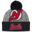 "New Jersey Devils Mitchell & Ness NHL ""Tailsweep"" Retro Logo Cuffed Pom Knit Hat"