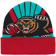 """Vancouver Grizzlies Mitchell & Ness NBA """"Stop On A Dime"""" Retro Cuffed Knit Hat"""