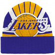 "Los Angeles Lakers Mitchell & Ness NBA ""Stop On A Dime"" Premium Cuffed Knit Hat"