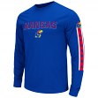 "Kansas Jayhawks NCAA ""Surge"" Long Sleeve Dual Blend Men's T-Shirt"