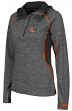 "Miami Hurricanes Women's NCAA ""Downhill"" 1/4 Zip Hooded L/S Wind Shirt"