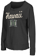 "Hawaii Warriors Women's NCAA ""Rope Tow"" Long Sleeve Crew Shirt"