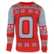 "Ohio State Buckeyes Men's NCAA ""Big Logo"" Ugly Sweater"