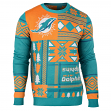 "Miami Dolphins Men's NFL ""Patches"" Ugly Sweater"