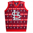 "St. Louis Cardinals MLB Men's ""Aztec Print"" Ugly Sweater Vest"