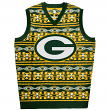 "Green Bay Packers Men's NFL ""Aztec Print"" Ugly Sweater Vest"