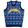 "San Diego Chargers Men's NFL ""Aztec Print"" Ugly Sweater Vest"