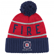 "Chicago Fire MLS Mitchell & Ness ""High 5"" Cuffed Knit Hat w/ Pom"