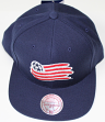 "New England Revolution MLS Mitchell & Ness ""Team Solid"" Snap Back Hat"