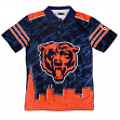 """Chicago Bears NFL """"Thematic"""" Skyline Men's Polo Shirt"""