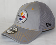 Pittsburgh Steelers New Era NFL 39THIRTY Gray Neo Flex Fit Hat
