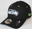 Seattle Seahawks New Era NFL 39THIRTY Black Flex Fit Hat