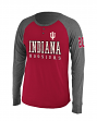 "Indiana Hoosiers NCAA ""Spotter"" Long Sleeve Dual Blend Men's Henley Shirt"
