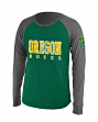 "Oregon Ducks NCAA ""Spotter"" Long Sleeve Dual Blend Men's Henley Shirt"