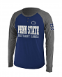 Penn State Nittany Lions NCAA Spotter Long Sleeve Dual Blend Men's Henley Shirt