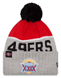 San Francisco 49ers New Era NFL Super Bowl XXIX Logo Gray Sport Knit Hat
