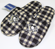 Pittsburgh Penguins NHL Men's Plaid Flannel Slide Slippers