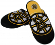 Boston Bruins NHL Men's All Over Logo Slide Slippers
