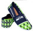 "Seattle Seahawks Women's NFL ""Ugly Slipper"" Slip On Canvas Shoes"
