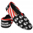 Chicago Blackhawks Women's NHL Slip On Canvas Stripe Shoe Slippers