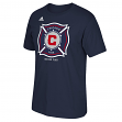 Chicago Fire Adidas MLS Primary Logo Men's Navy T-Shirt