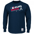 "Atlanta Braves Majestic MLB Authentic ""Team Choice"" On-Field L/S T-Shirt"