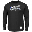 "Colorado Rockies Majestic MLB Authentic ""Team Choice"" On-Field L/S T-Shirt"