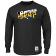 "Pittsburgh Pirates Majestic MLB Authentic ""Team Choice"" On-Field L/S T-Shirt"