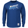 "Kansas City Royals Majestic MLB Authentic ""Team Choice"" On-Field L/S T-Shirt"