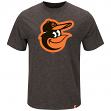 "Baltimore Orioles Majestic MLB ""Mental Metal"" Men's Heathered Slub T-Shirt"