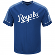 "Kansas City Royals Majestic MLB ""Lead Off Hitter"" V-Neck Men's Fashion Jersey"