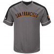 "San Francisco Giants Majestic MLB ""Dominant"" V-Neck Men's Gray Fashion Jersey"