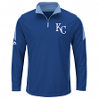 "Kansas City Royals Majestic MLB ""Status"" Cool Base 1/4 Zip Performance Shirt"