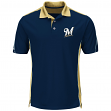 "Milwaukee Brewers Majestic MLB ""To The 10th"" Men's Performance Polo Shirt"