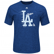 "Los Angeles Dodgers Majestic MLB ""Far Beyond"" Cool Base Heathered Men's T-Shirt"