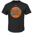 "Baltimore Orioles Majestic MLB ""Electric Ball"" Short Sleeve Men's T-Shirt"